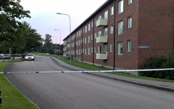 Sündmuskoht Göteborgis Biskopsgårdeni piirkonnas.