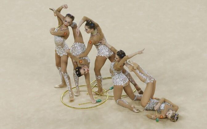 Venemaa rühmvõimlejad.