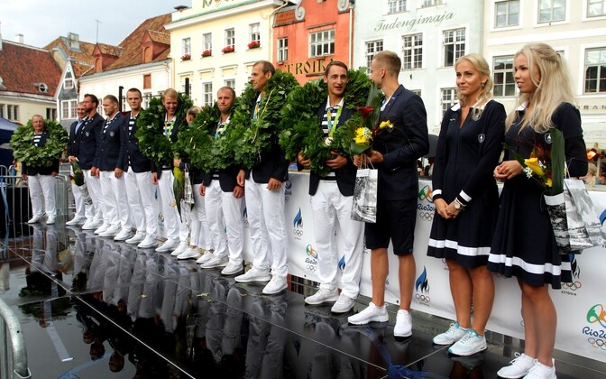 Members of the Estonian delegation to the Rio Games.