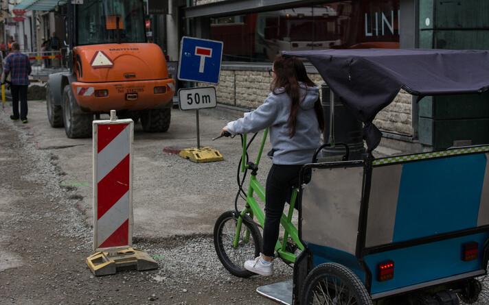Велотакси в Таллинне.