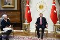 Eesti välisminister Marina Kaljurand ja Türgi president Recep Tayyipr Erdogan 24. augustil Ankaras.
