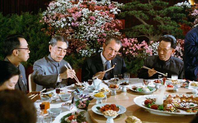 USA president Richard Nixon 1972. aastal Hiinas.