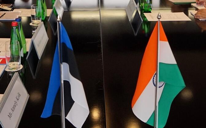 Eesti ja India välisministeeriumi ametnikud Tallinnas 26. augustil.