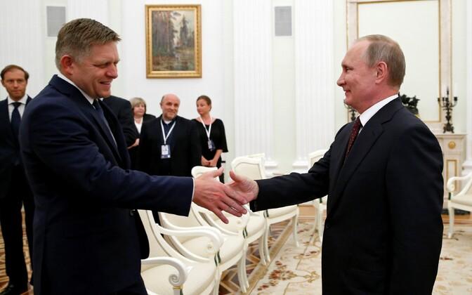 Slovakkia peaminister Robert Fico ja Venemaa president Vladimir Putin 25. augustil Moskvas.
