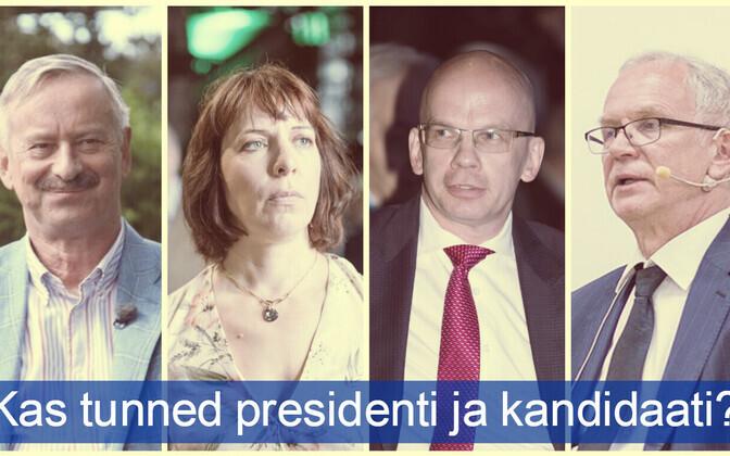 Presidendikandidaatide debatt toimub täna ETVs kell 21.35.
