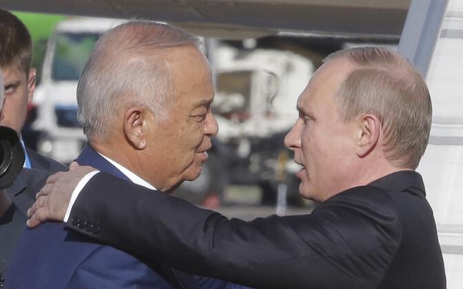Islam Karimov juunis kohtumisel Vladimir Putiniga.