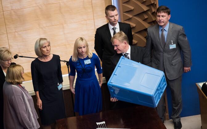 Valimiskomisjoni liikmed presidendivalimistel.