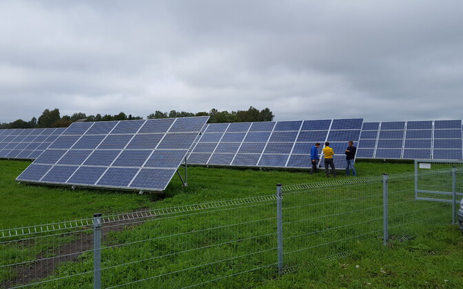 Fortum wants to build a solar energy park in Luunja Municipality, east of Tartu. Photo is illustrative.