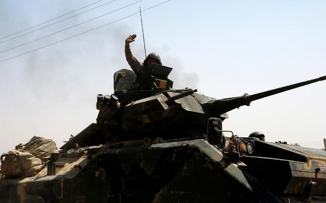 Türgi sõdur Türgi-Süüria piiril Gaziantepi provintsis.