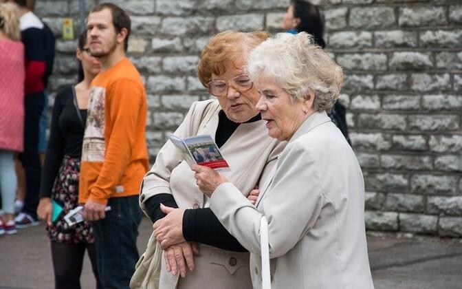 Pensionärid Tallinnas.
