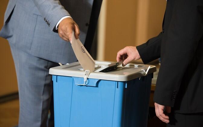 Ballot box in Estonia. Photo is illustrative.