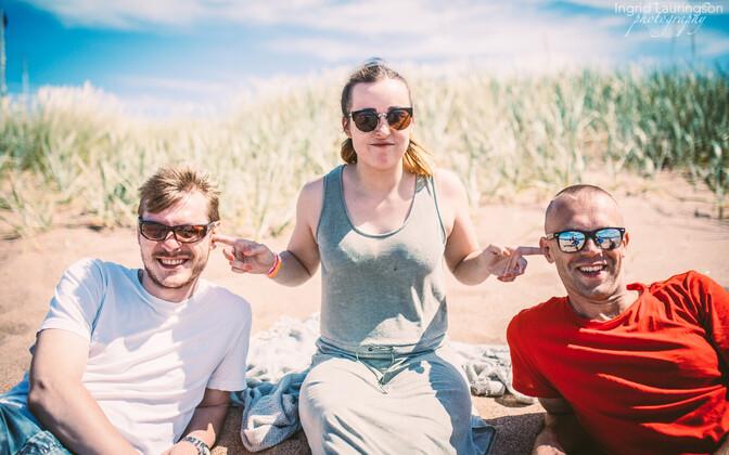Kristel Aaslaid, räppar Okym ja DJ Audioholic