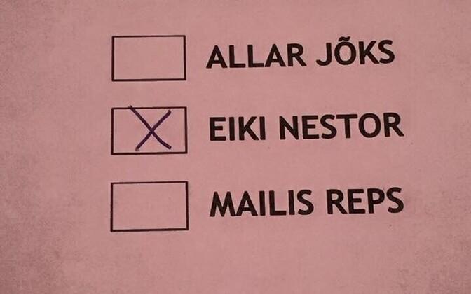 Hääletussedel