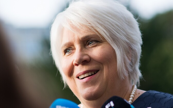 Kaljurand after her meeting with Rõivas, Aug. 31, 2016.