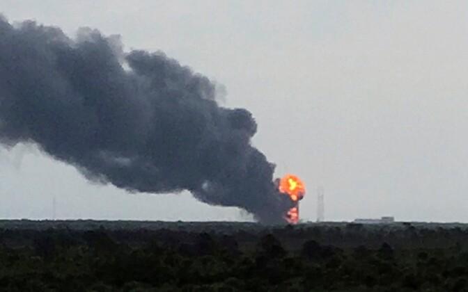 SpaceX'i kanderaketi plahvatus.