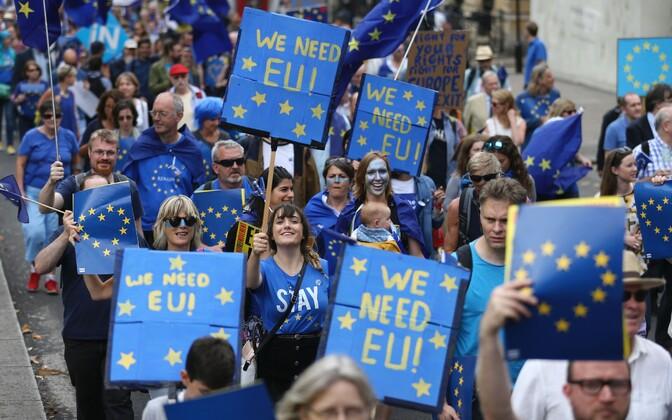 Protestimarsid enne Brexitit.