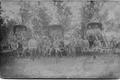 Vene armee sõdurid Łomża kubermangus Malahowi külas 15. juulil 1915. Esireas paremalt esimene eesti päritolu Vassili Truvert.