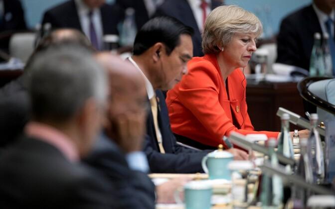 Theresa May eile G20 avatseremoonial Hiinas Zhejiangi provintsis.