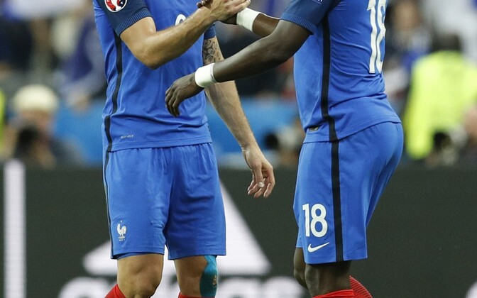 Olivier Giroud (vasakul) ja Moussa Sissoko
