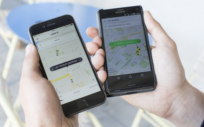Uber and Taxify both provide ridesharing services in Estonia.