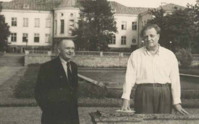 August Jakobson (paremal) ja Erni Hiir.