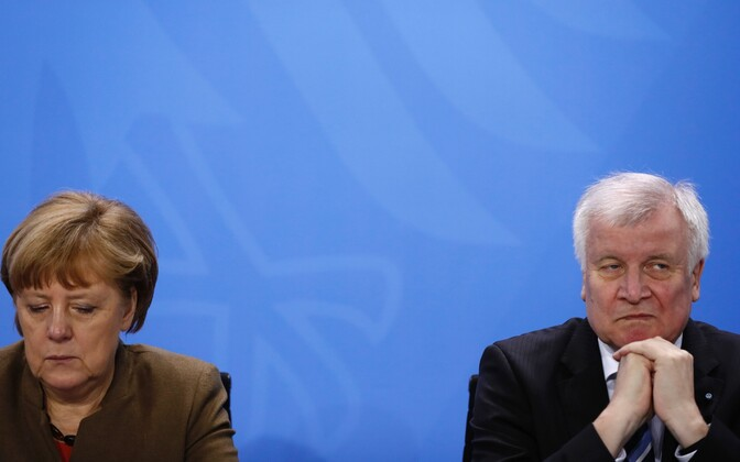 Angela Merkel (vasakul) ja Horst Seehofer.