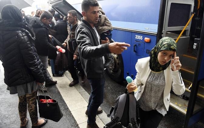 Pagulased Tornios Soome saabumas.