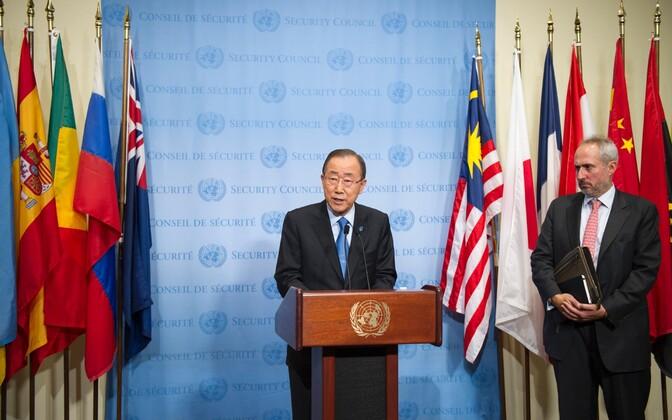 ÜRO peasekretär Ban Ki-moon kutsus julgeolekunõukogu astuma vastavaid samme Põhja-Korea tuumakatsetuse vastu.