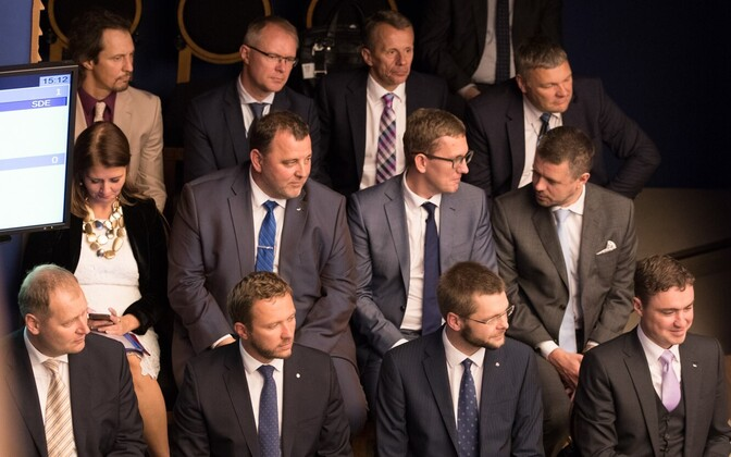 Ministers of the current Estonian government. September 2016.