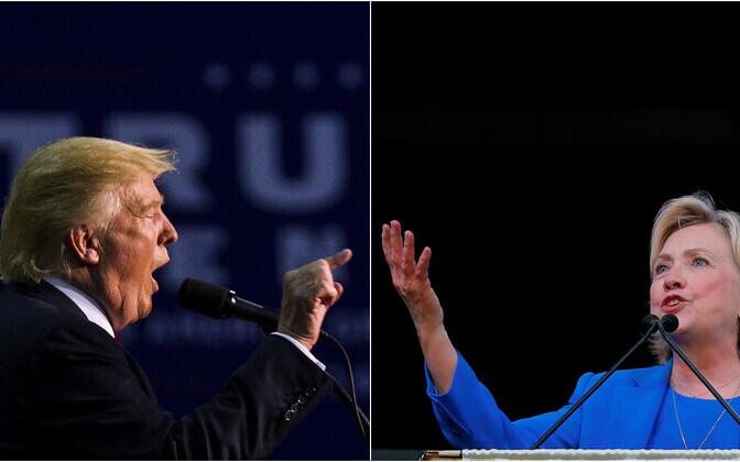 Donald Trump (vasakul) ja Hillary Clinton.