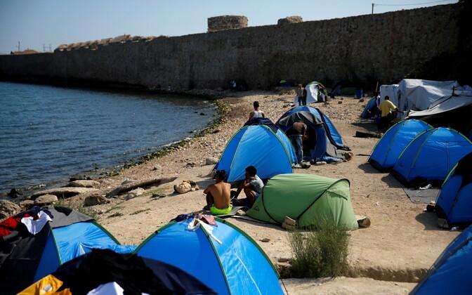 Migrandid ja põgenikud Kreekas Chiose saarel.