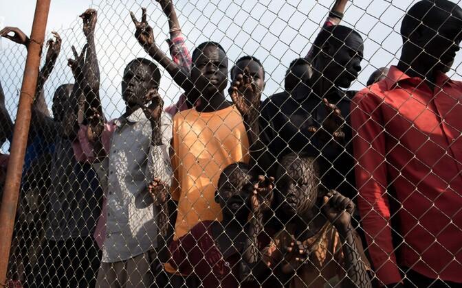 Lõuna-Sudaanis ümberpaigutatud põgenikud.