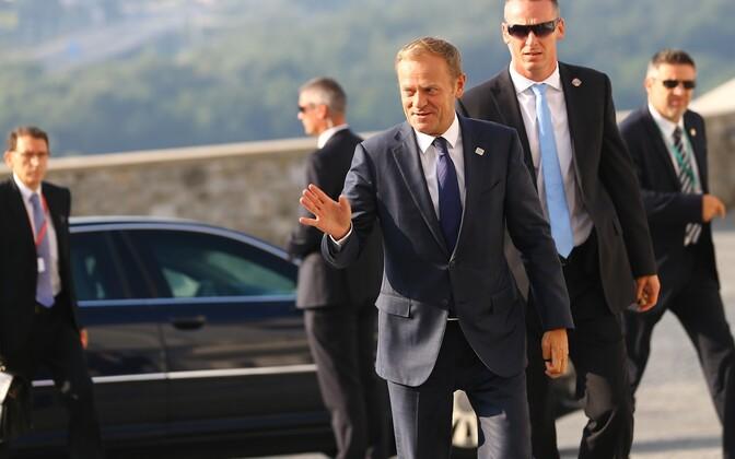 Euroopa Ülemkogu alaline eesistuja Donald Tusk saabub Bratislava tippkohtumisele.