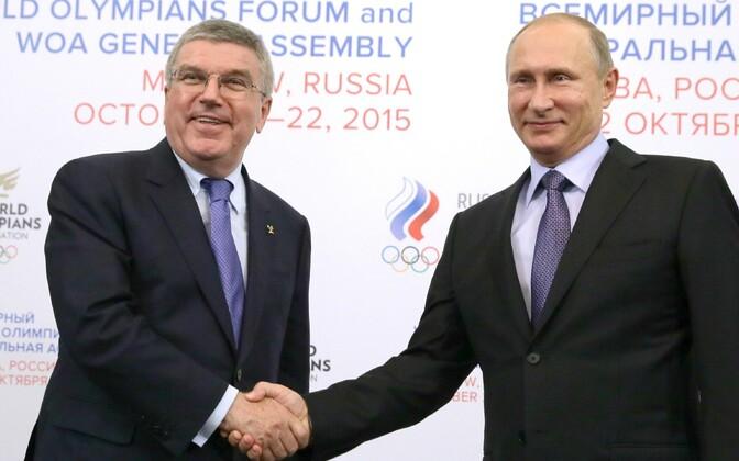 Thomas Bach, Venemaa president Vladimir Putin