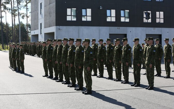Conscripts in the Estonian Defence Forces.