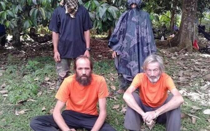 Kjartan Sekkingstad (vasakul) koos juunis hukatud kanadalase Robert Halliga.