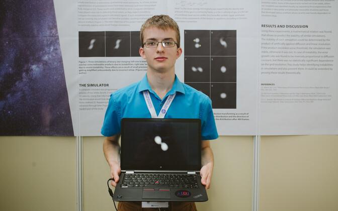 Kristjan Kongas Euroopa Liidu noorte teadlaste konkursil.