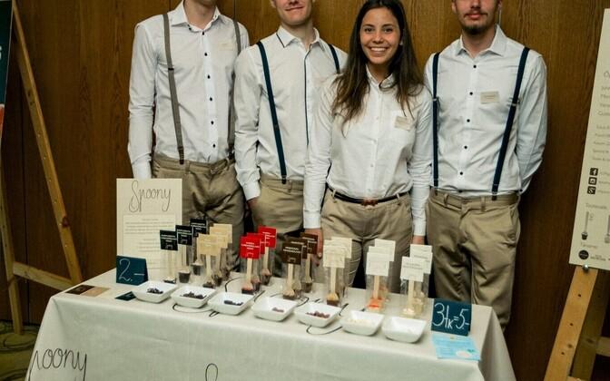Junior Achievement Estonia winner and European runner-up student company Spoony.