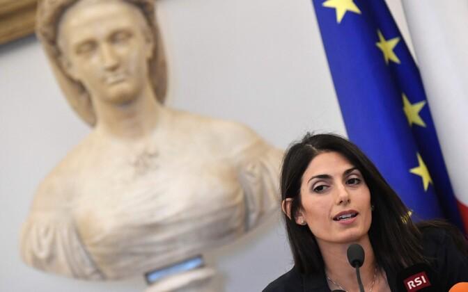 Linnapea Virginia Raggi teatas, et ei toeta Rooma kandidatuuri.