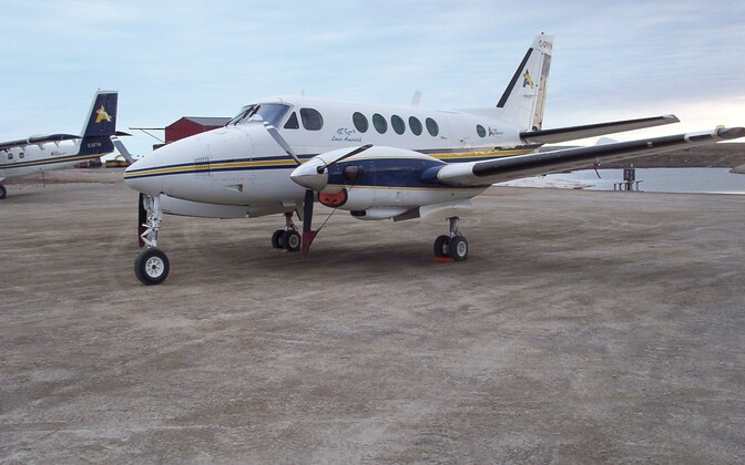 A Beechcraft King Air 100 aircraft similar to the Beechcraft King Air 350 the Ministry of the Interior will be purchasing from Bromma Air