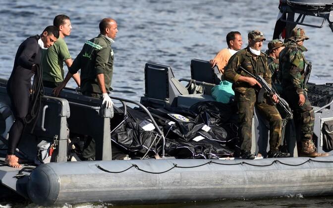 Meedikute paat, millel septembri lõpus Vahemerest leitud migrantide surnukehad.