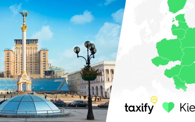 Estonian international transportation network company Taxify launched in Kiev this September. September 2016.