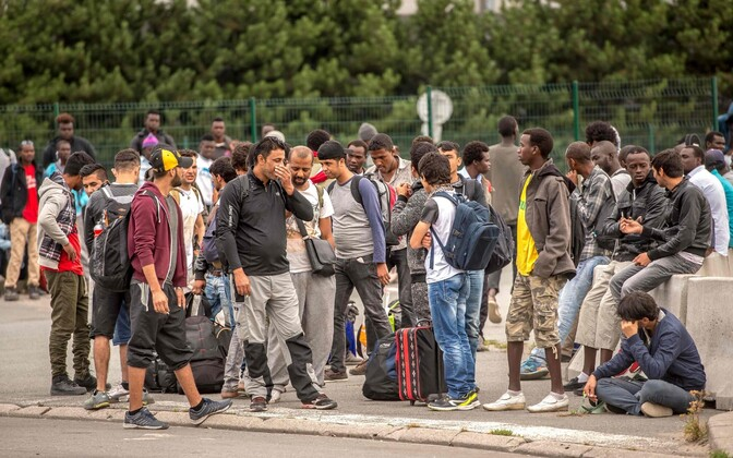 Migrandid Calais' laagri