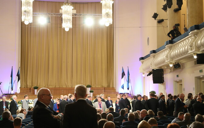 Members of the Electoral College at the Estonia Concert Hall.