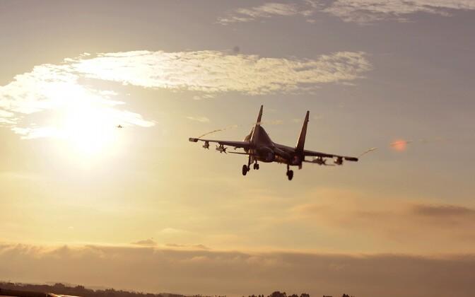 Hiina õhujõudude Su-30 hävituslennukid.