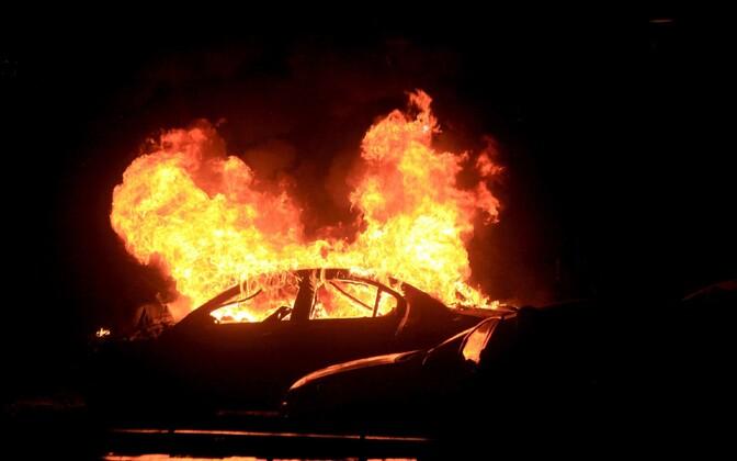 Põlev auto, arhiivifoto.