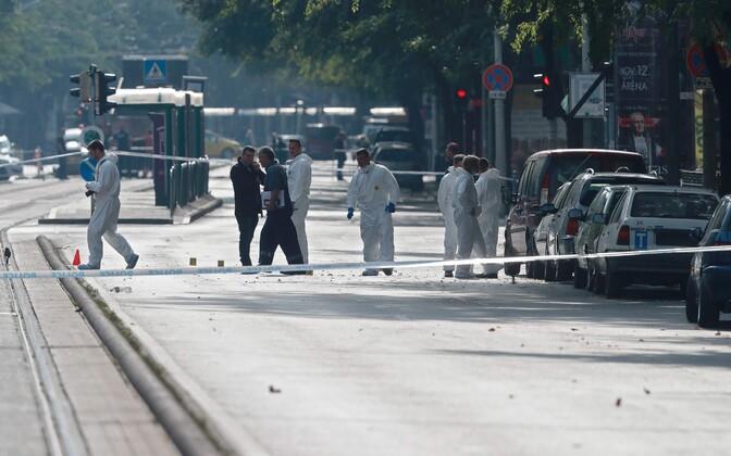 Budapesti plahvatuse sündmuskoht.