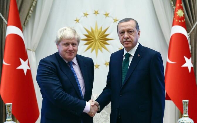 Briti välisminister Johnson ja Türgi president Erdogan täna Ankaras.