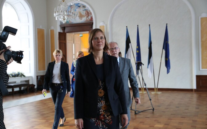 Kersti Kaljulaid meeting with the Riigikogu's Council of Elders on Tuesday, Sept. 27, 2016.