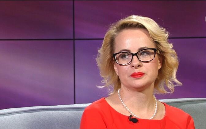 Мария Юферева в прямом эфире ETV+.